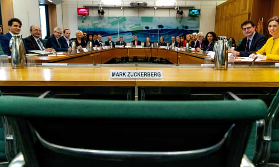 Facebook's Mark Zuckerberg declined to give evidence to an international grand committee from nine parliaments last year in London.