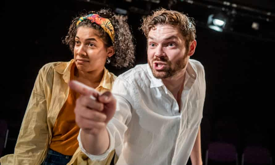 Glinting mischief … Rebekah Murrell as Mary and Gabriel Bisset-Smith as Lysander in Whitewash.
