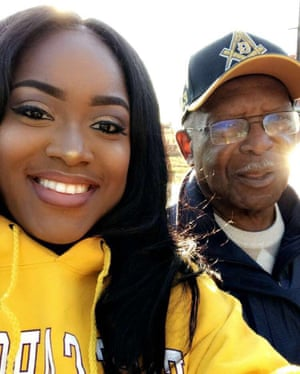 Mesha Winford and her father.