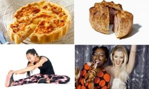 Inflation basket: quiche, pork pie, leggings, beer in a nightclub