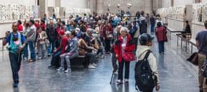 Visitors at the British Museum.