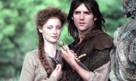 Judi Trott as Maid Marion and Michael Praed as Robin Hood in Paul Knight's Robin of Sherwood, which ran on TV from 1984 to 1986.