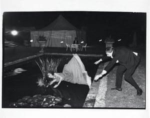 Debutante Pop Vincent in a lily pond