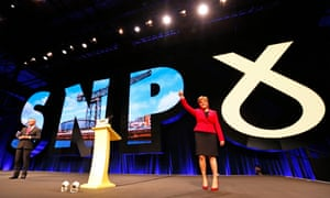 SNP leader Nicola Sturgeon at the 2018 party conference.