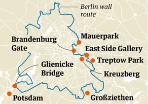 Berlin wall map