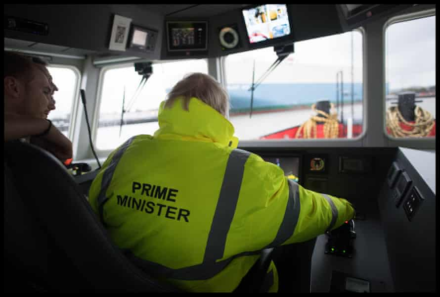 Johnson on a tug boat in the port of Bristol, November 14