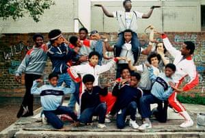Breakdancers and B-boys.