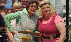 Victoria Wood fans dressed as Mrs Overall and the aerobics instructor character