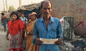 Cheques given to fire victims in the Rohini slum have names spelled incorrectly.