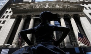 The Fearless Girl Statue stands outside of the New York Stock Exchange.