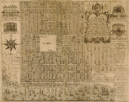 Michael Hay's map of Kingston from 1740.