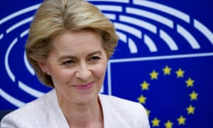 Ursula von der Leyen at an EU commission press conference