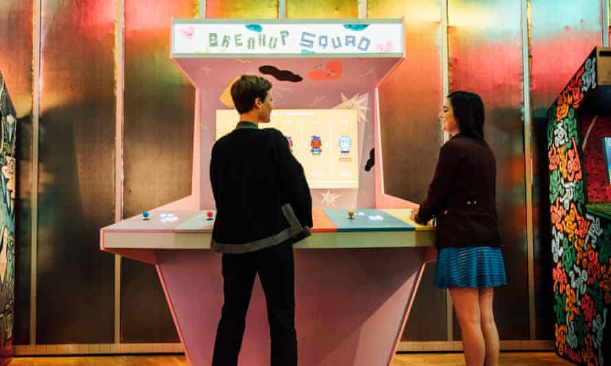 Breakup Squad, a game where players work together to keep a friend away from their ex at a party, is featured at the V&A.