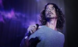 Chris Cornell performing in Stockholm, Sweden.