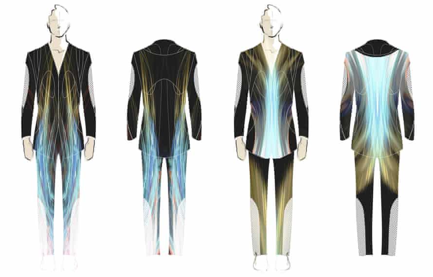 Sketches for a Patrik Schumacher suit.