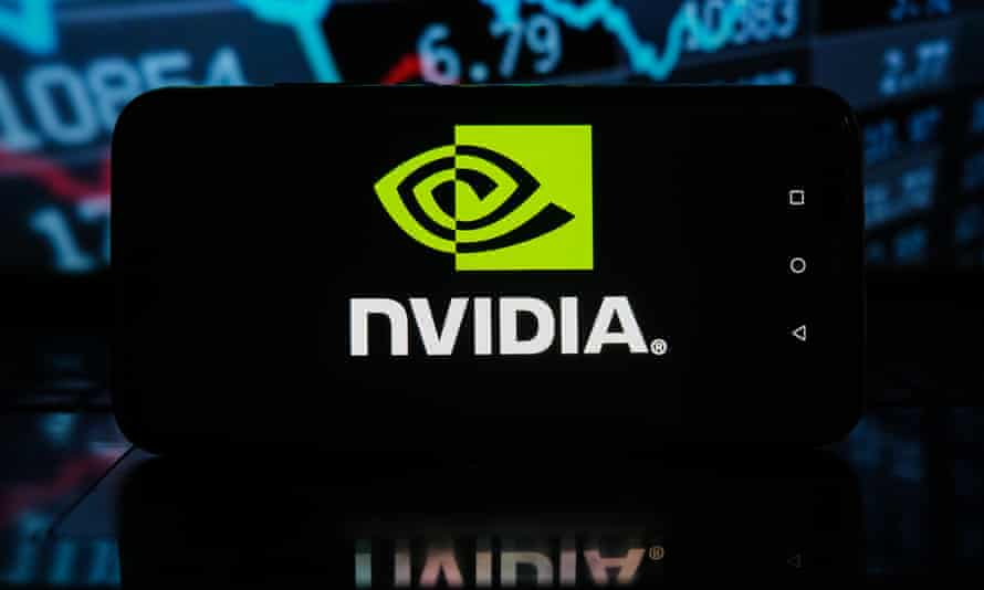 Nvidia logo seen displayed on a smartphone