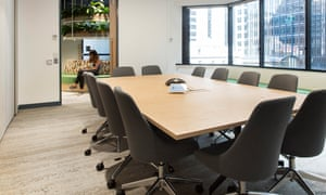 The flooring at Australian Ethical's head office in Sydney includes sustainable carpet tiles by Interface.