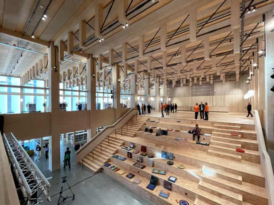 Timber tour de force … the auditorium.