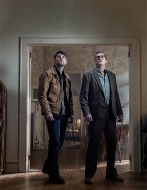 'It plays on a lot of religious fears in America at the moment…' Philip Glenister with Patrick Fugit in Outcast.