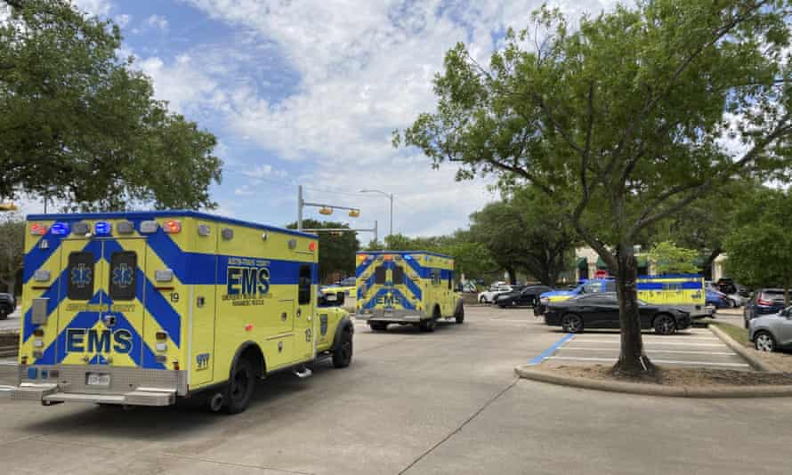 Emergency personnel at the scene of a fatal shooting, in Austin, Texas, on Sunday.
