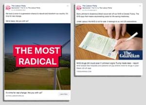 Labour Facebook ads