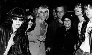 Stein and his wife, Linda, with the Ramones and Iggy Pop.