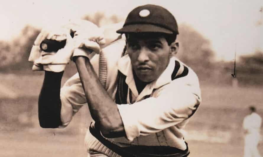 Indian Test cricketer Rusi Surti plays a shot