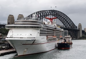 The Carnival Spirit Cruise Ship docked in Sydney.