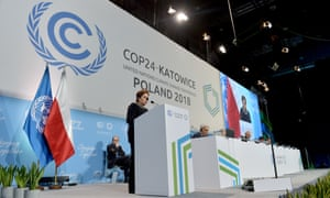 Patricia Espinosa, executive secretary of the climate change secretariat addressing the COP24 climate change summit in Katowice, Poland, on Tuesday.