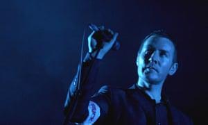 Robert Del Naja of the band Massive Attack