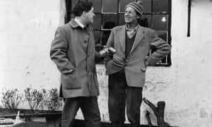 Stanley Ellis, left, one of the fieldworkers of the 1950s Survey of English dialects, records Tom Mason in North Yorkshire.