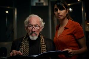 Simon Callow and Anjli Mohindra in The Dead Room.