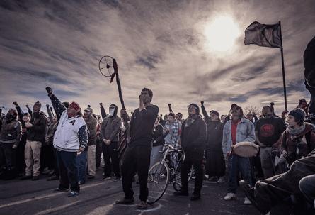 Matt Hamon dakota access pipeline protest