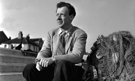 Benjamin Britten on the beach at Aldburgh, Suffolk in 1951.