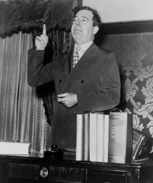 Louisiana strongman and scourge of judges, Huey Long.