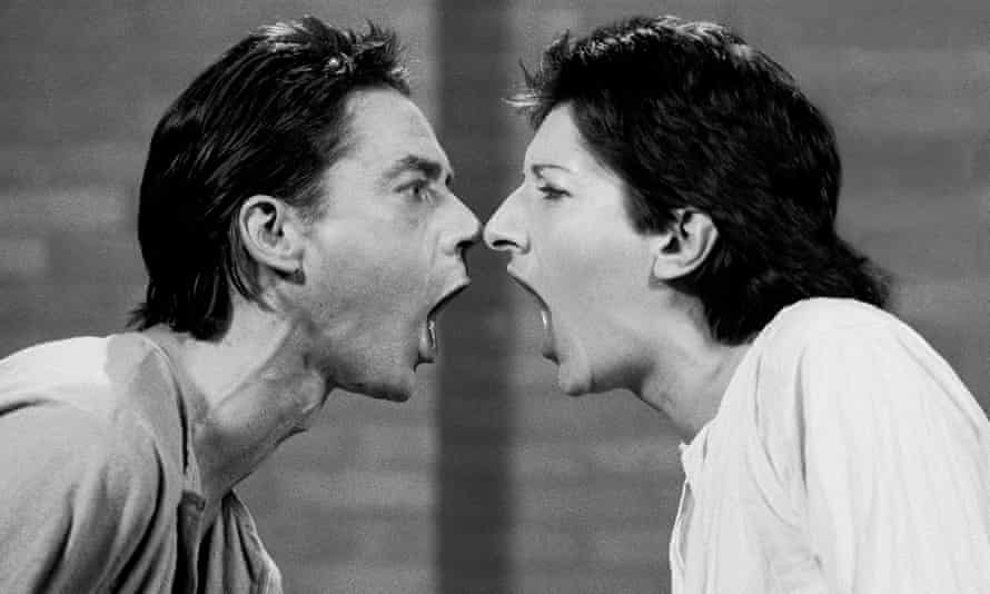 Ulay, left, and Marina Abramović in a still from the 2012 documentary The Artist Is Present, directed by Matthew Akers and Jeff Dupre.