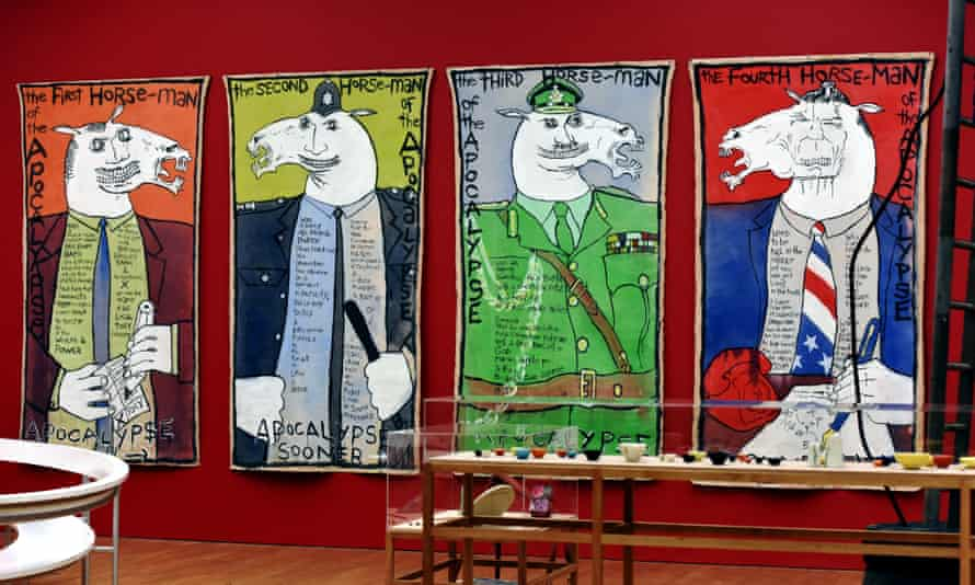 Keith Piper's The Four Horsemen of the Apocalypse at Mima.