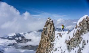 Killian Jornet during his documentary Path to Everest