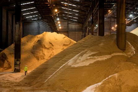 Raw sugar storage shed at a Tate & Lyle factory in east London.