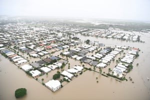 A view of the flooded area of Townsville on 4 February
