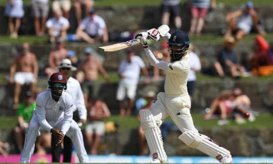 Moeen Ali batting, West Indies v England, second Test