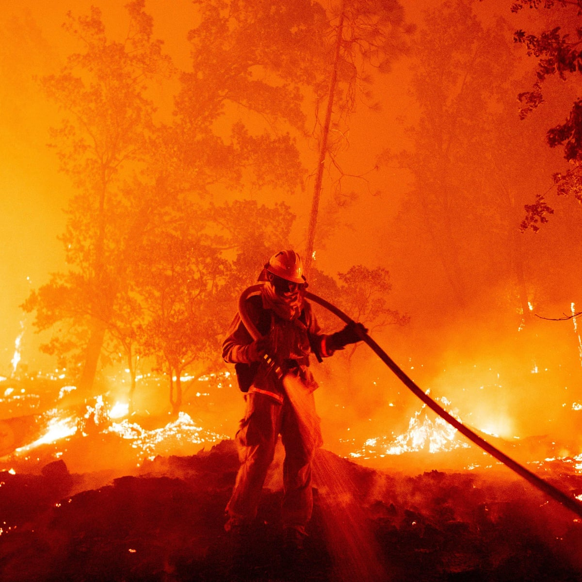 California fires burn record 2m acres | US news | The Guardian