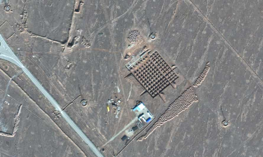This 11 December 2020, satellite photo by Maxar Technologies shows construction at Iran's Fordow nuclear facility.