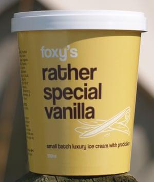 Foxy's Rather Special vanilla ice-cream.
