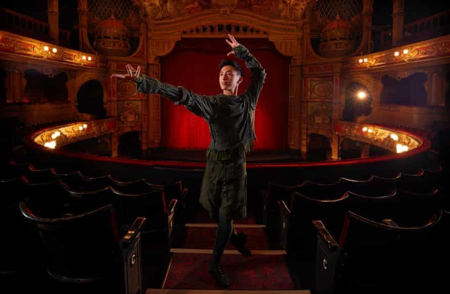 Dancer Matthew Koon as Merlin, photographed at Hackney Empire, November 2020