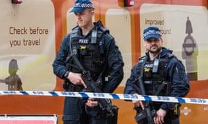 Armed police outside London Bridge station