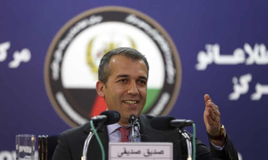 Ashraf Ghani's spokesman Sediq Seddiqi.