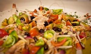 seafood salad at Tempio di Iside, Rome