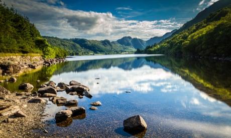 Llyn Crafnant lake, near Capel Curig on a summer day.
