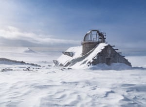 A half-built observatory abandoned by the Soviets sits 200 metres away from the station.